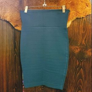 Knit Skirt, Knee length and Teal